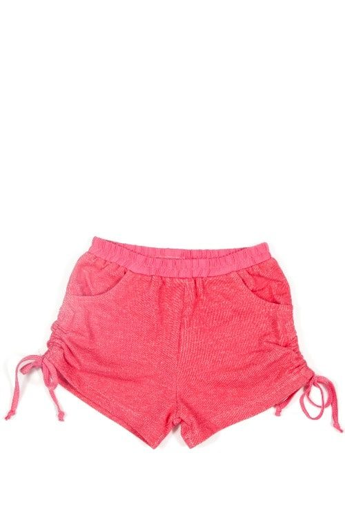 Little Wings by Paper Wings Watermelon Pink Fleece Shorts