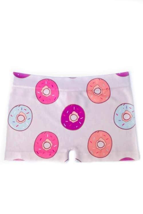 Girls Donut Print Dance Shorts