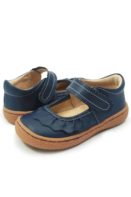 Livie & Luca Ruche Mary Jane Navy Blue
